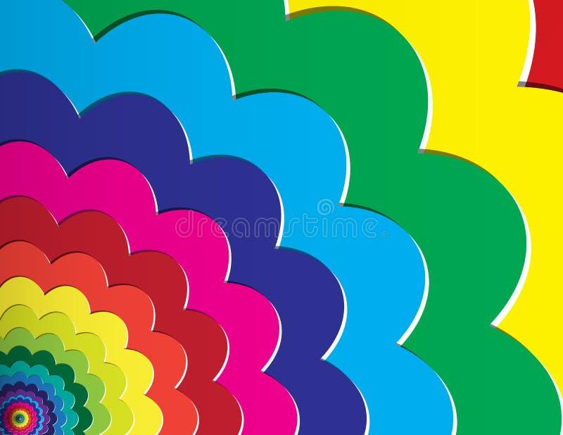 Mång- färga bakgrund vektor illustrationer