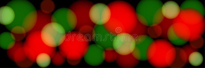 Mång--färgad bokeh på en svart bakgrund abstrakt panorama- illustration vektor illustrationer