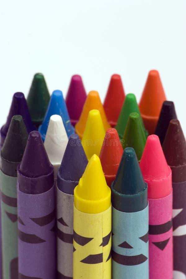 Mång- Färgade Crayons Gratis Arkivbild