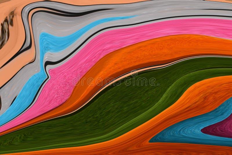Mång--färgade linjer Färgrikt föreställa Leken av färger vektor illustrationer