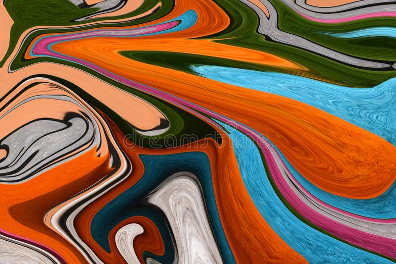 Mång--färgade linjer Färgrikt föreställa Leken av färger stock illustrationer