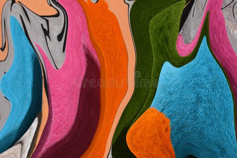 Mång--färgade linjer Färgrikt föreställa Leken av färger royaltyfri illustrationer