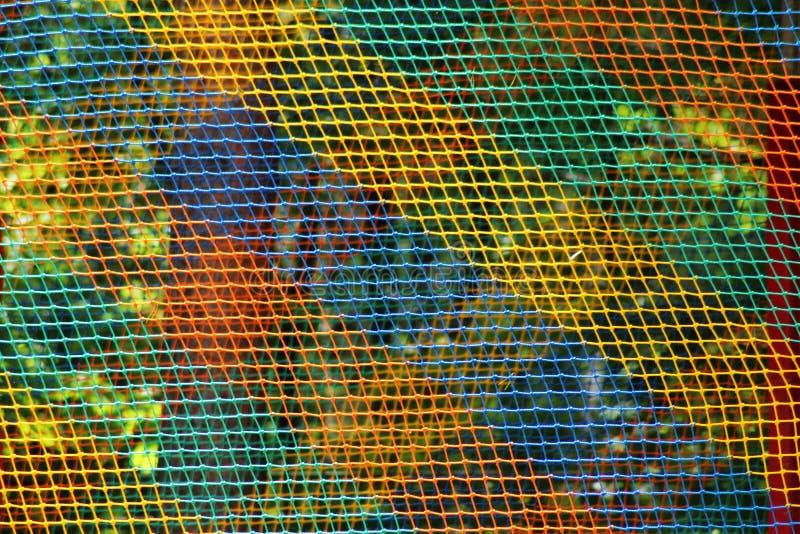 Mång--färgat ingrepp av trådar fotografering för bildbyråer