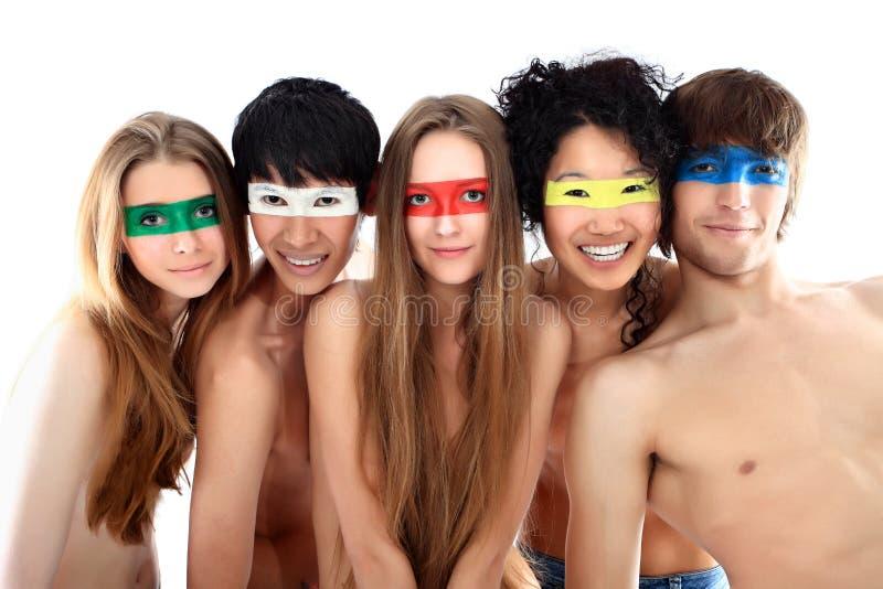 mång- folkgrupp royaltyfri fotografi