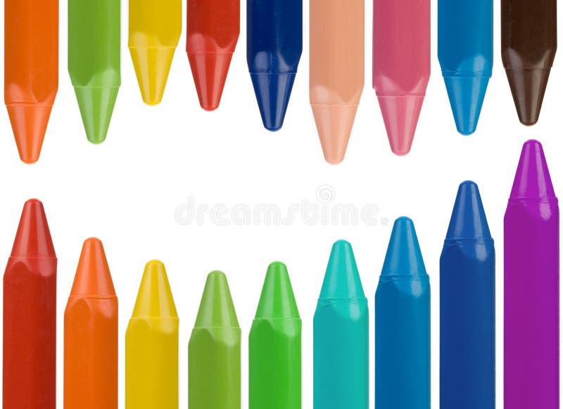 mång- kulör crayon för kant royaltyfria foton