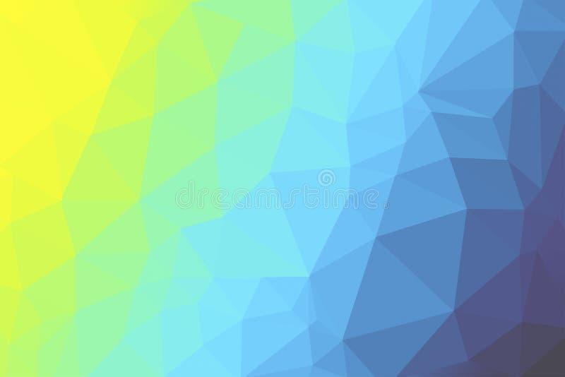 Mång- kulör triangelbakgrund - illustration stock illustrationer