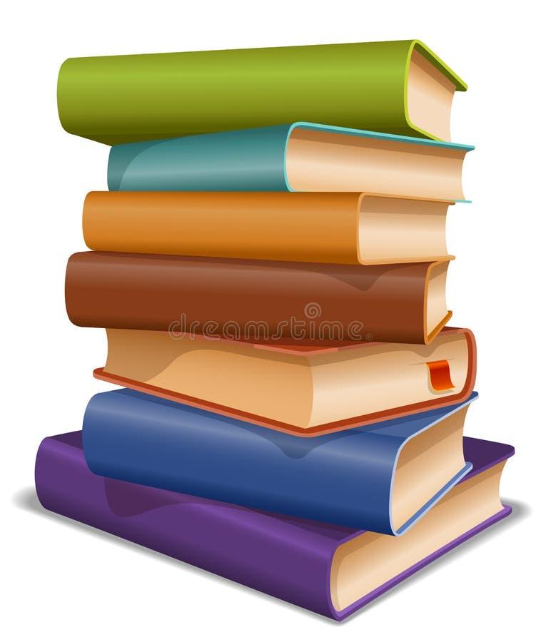 Mång- kulöra böcker stock illustrationer