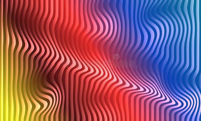 Mång- mall för färgabstrakt begreppbakgrund som 3D desing royaltyfri illustrationer