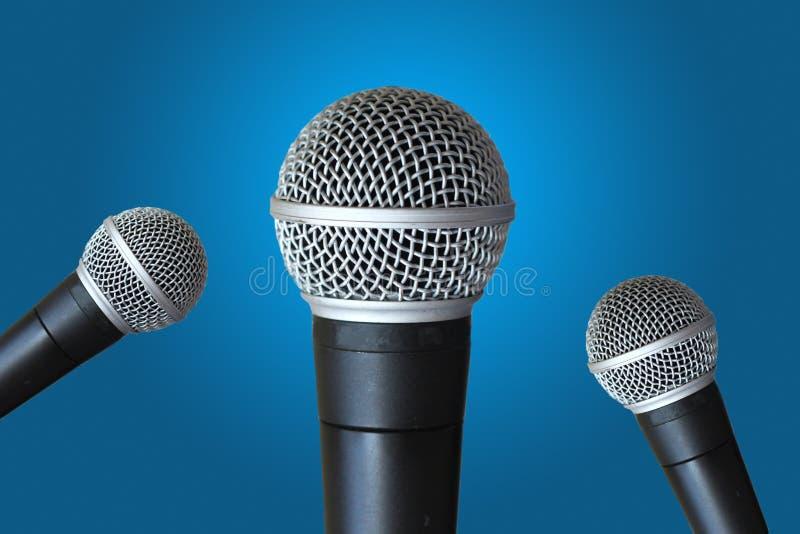 Mång- mikrofoner royaltyfria foton