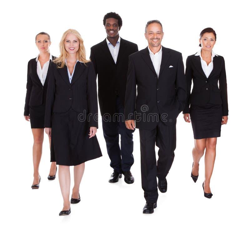 Mång--ras- grupp av affärsfolk royaltyfri bild