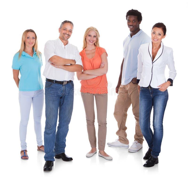 Mång--ras- grupp människor royaltyfri foto