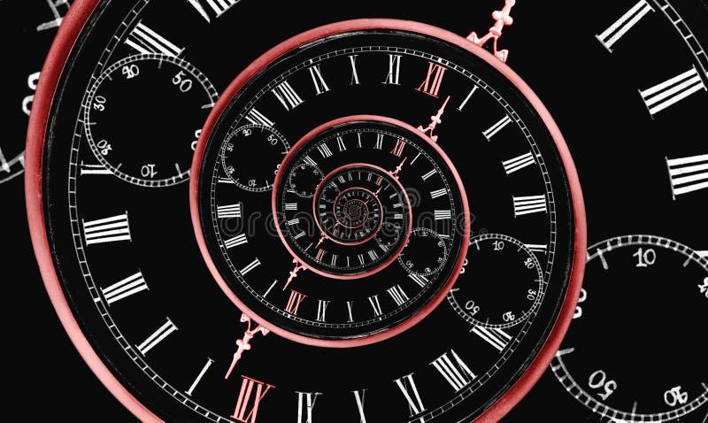 mång- spiral tid stock illustrationer