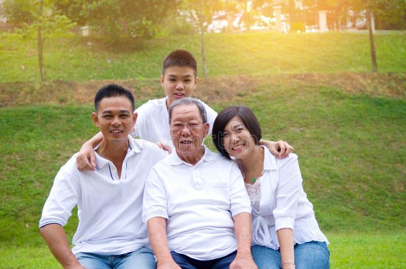 Mång--utveckling kinesfamilj royaltyfri fotografi