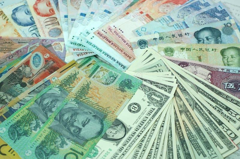 mång- valuta royaltyfria bilder