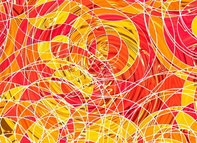 Många abstrakt begrepp krullade linjer på vita bakgrunder vektor illustrationer