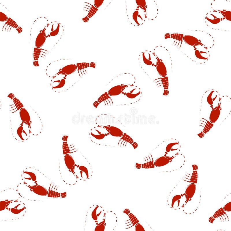 många bakgrundsklimpmat meat mycket Röda Omar Seamless Pattern stock illustrationer