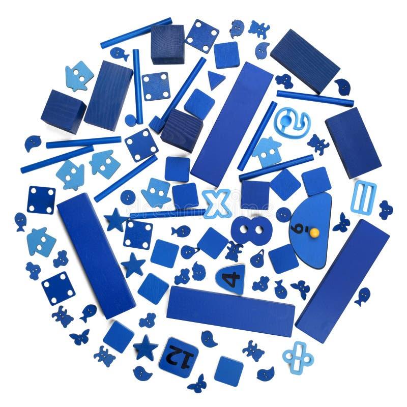Många blå leksaker royaltyfria bilder