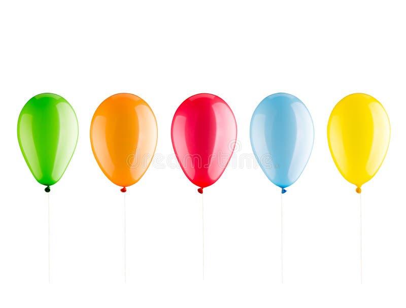 Många färgrika ballonger royaltyfri bild