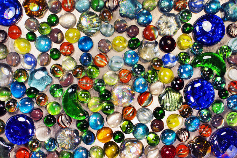 Många färgrika exponeringsglasmarmor royaltyfria foton