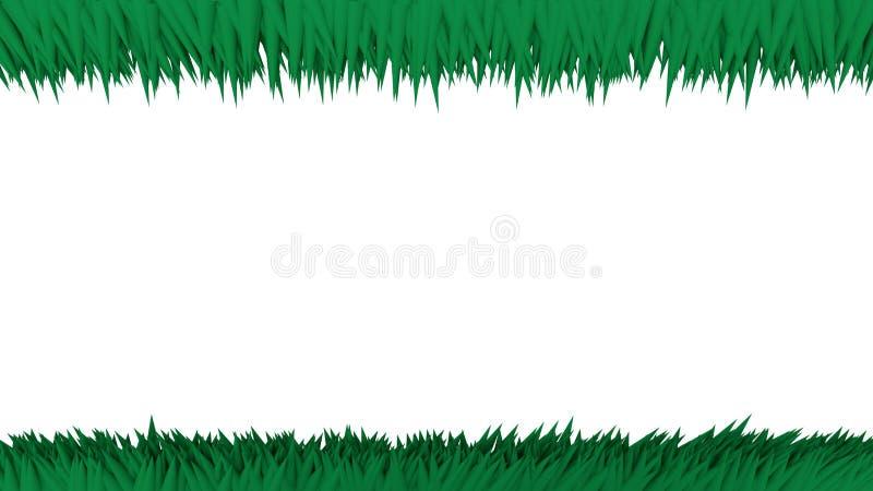 Många gör grön skarpt kottar i röra upp och ner vektor illustrationer