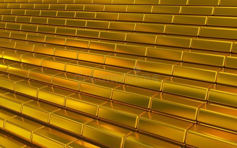 Guld- bommar för vektor illustrationer