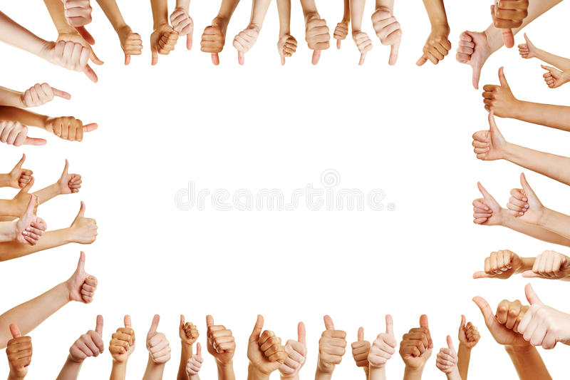 Många händer gratulerar en vinnare fotografering för bildbyråer
