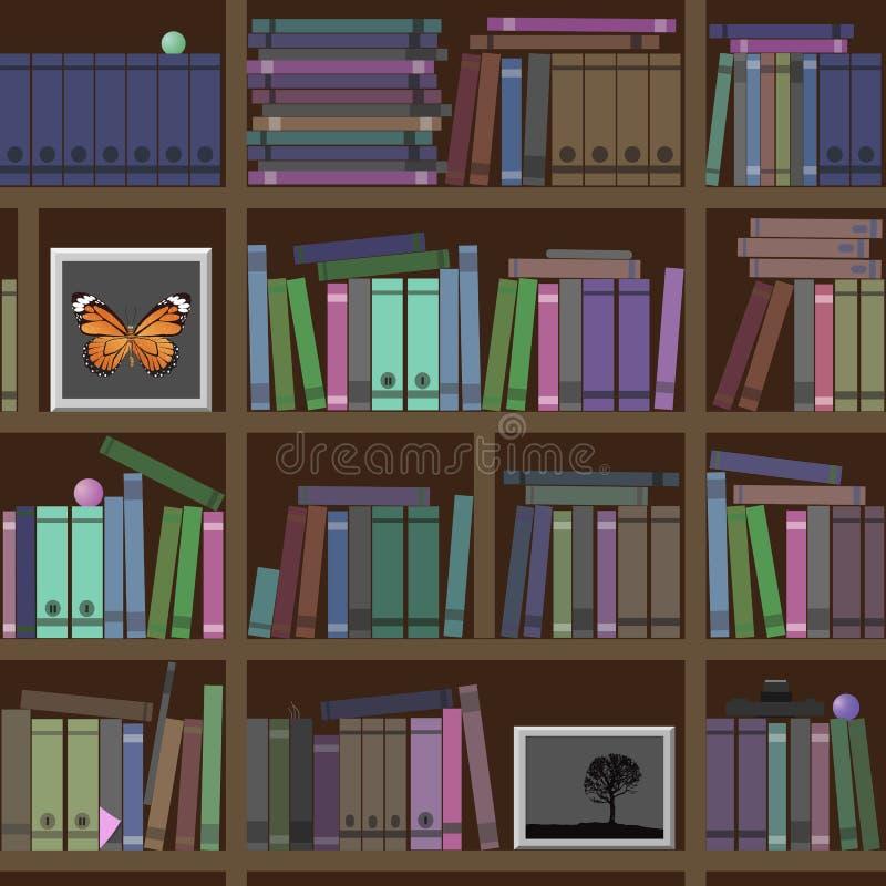 _ Många intressera böcker stock illustrationer