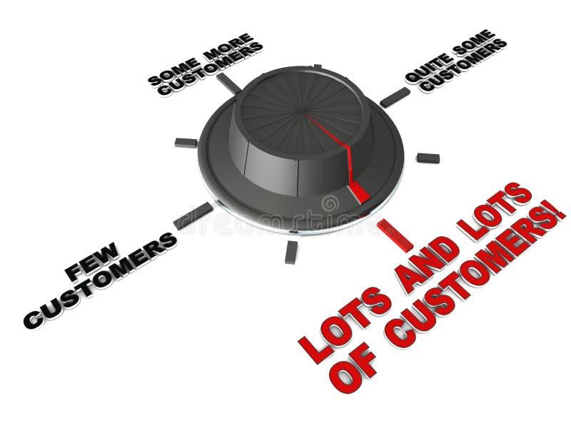 Många kunder vektor illustrationer