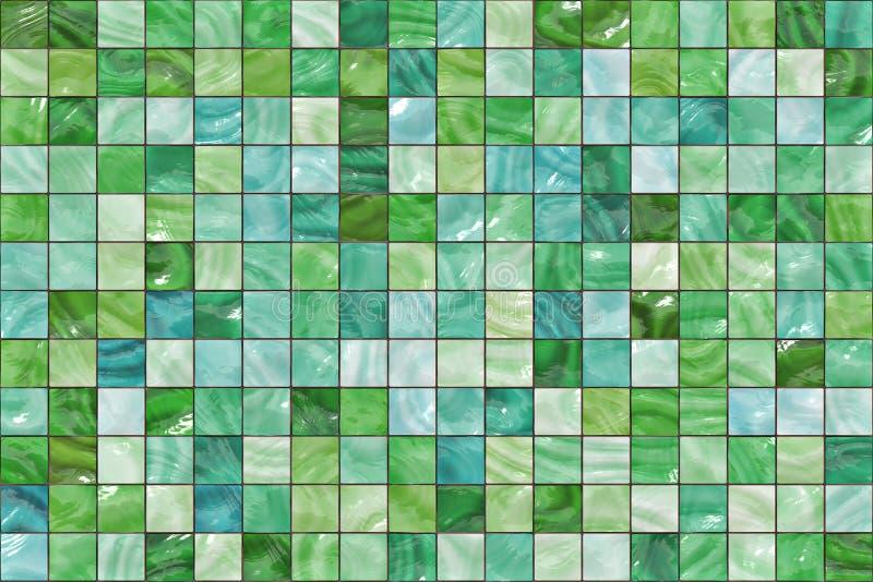 Många liten färgfyrkantmosaik. modelltextur. abstrakt bild vektor illustrationer