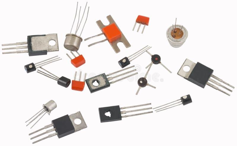 många nya transistorer arkivfoto