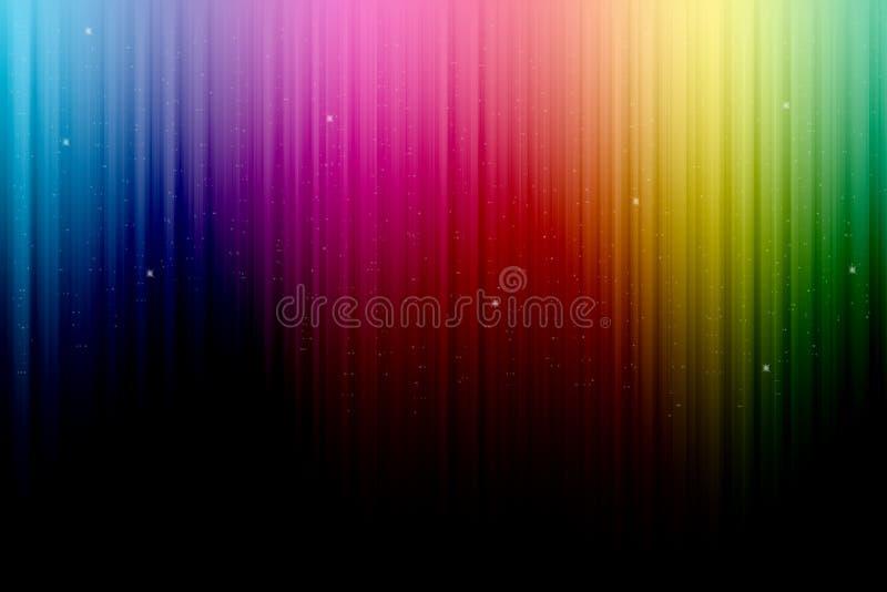 Mångfärgad etappgardin arkivfoton