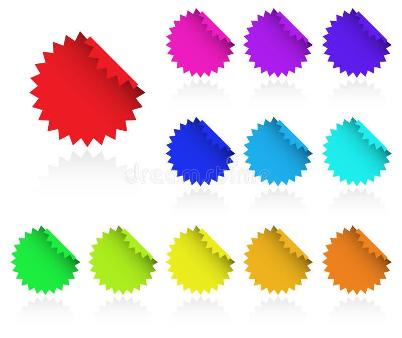 mångfärgad rengöringsduk för element stock illustrationer