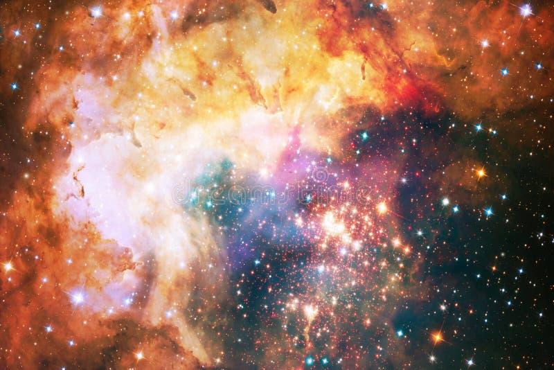 Mångfärgad slät ljus bakgrund för nebulosagalaxkonstverk stock illustrationer
