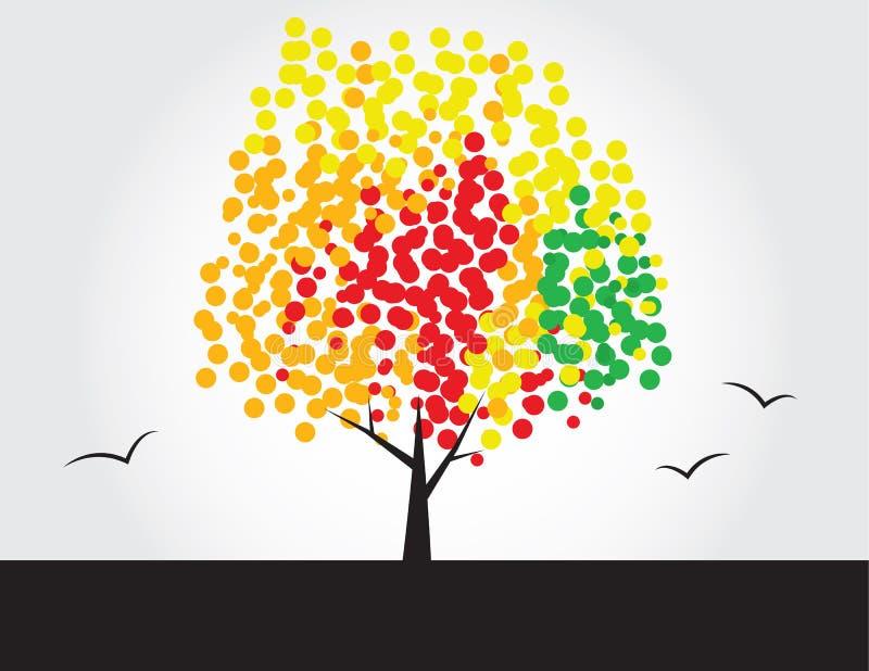 mångfärgad tree vektor illustrationer
