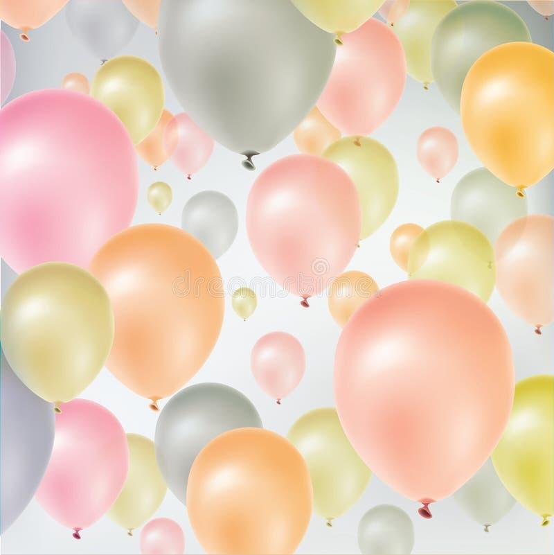Mångfärgade flygballonger vektor illustrationer