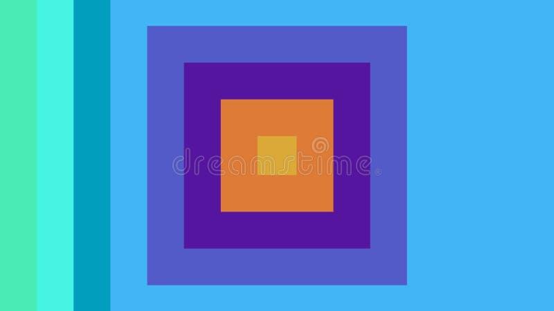 Mångfärgade fyrkanter kombineras i en härlig kulör bakgrund stock illustrationer