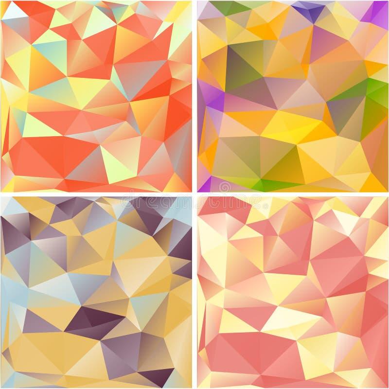 Mångfärgade geometriska bakgrunder. vektor illustrationer