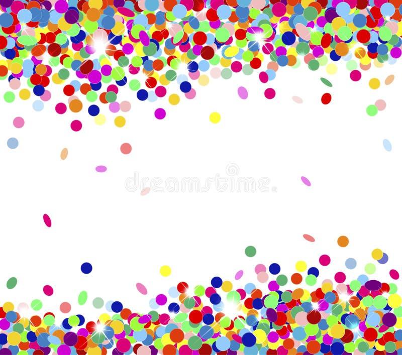 Mångfärgade konfettiar royaltyfri illustrationer