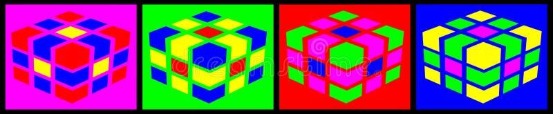 Mångfärgade kuber arkivbild
