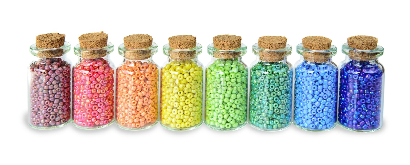 Mångfärgade pärlor royaltyfri bild