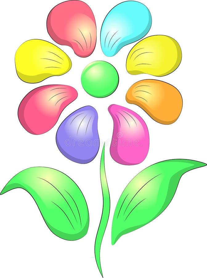 mångfärgade petals för blomma stock illustrationer