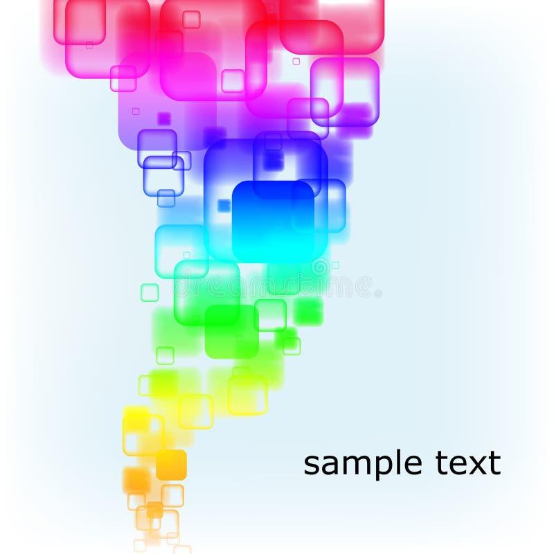 mångfärgade rundade fyrkanter för abstrakt bakgrund royaltyfri illustrationer