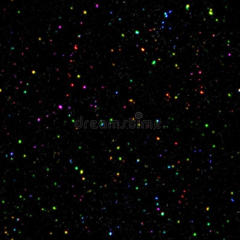 mångfärgade stjärnor royaltyfri illustrationer