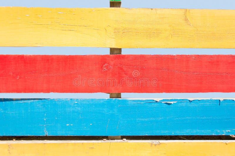 mångfärgat staket royaltyfri bild
