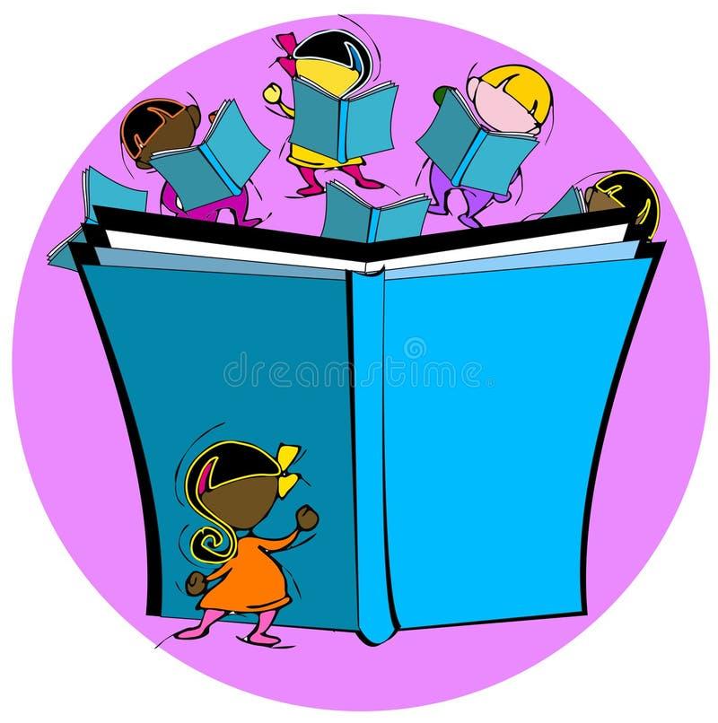 Mångfald: barn och utbildning stock illustrationer