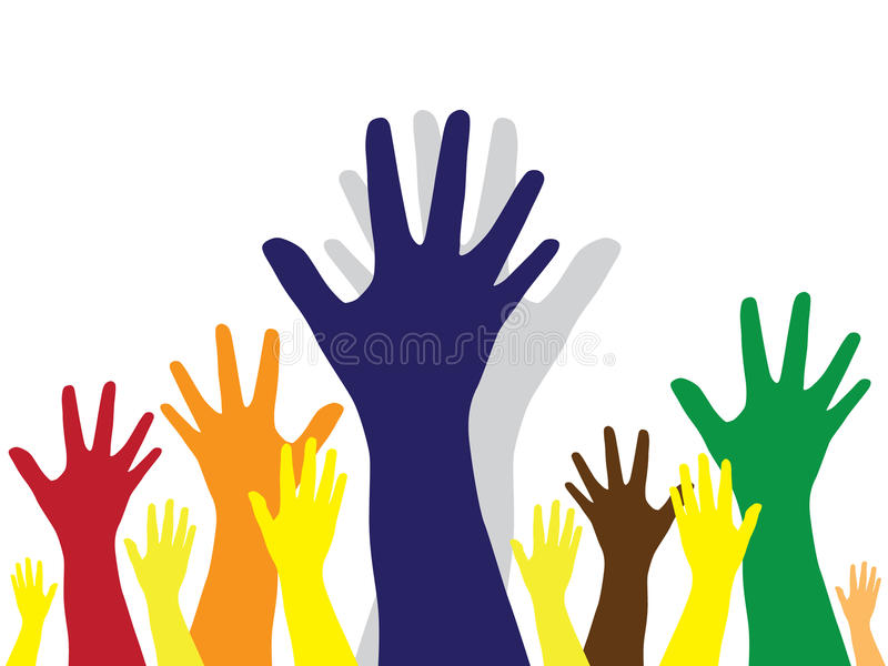 mångfald hands symbol stock illustrationer