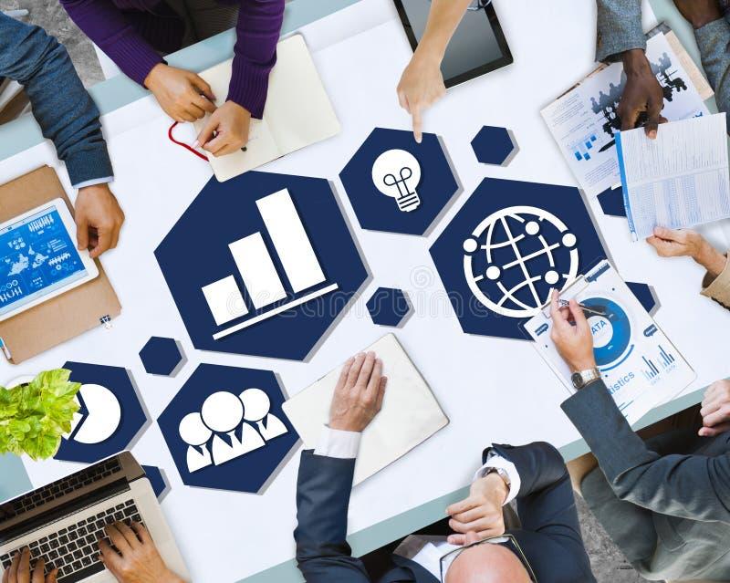 MångfaldaffärsTeam Planning Board Meeting Strategy begrepp royaltyfri fotografi