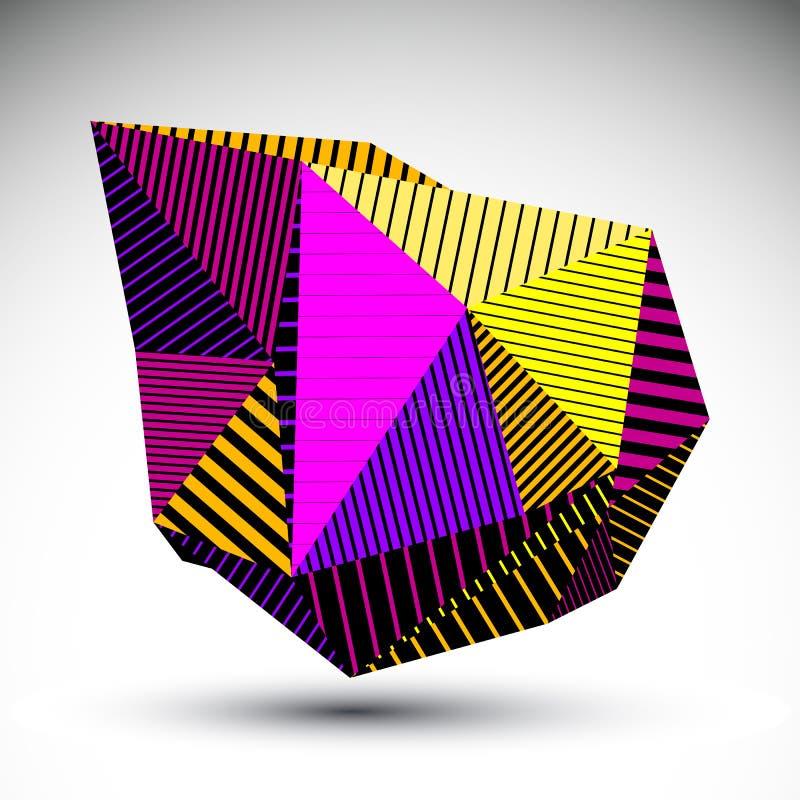 Mångfasetterat assymetriskt diagram för kontrast eps8 med parallella linjer stock illustrationer