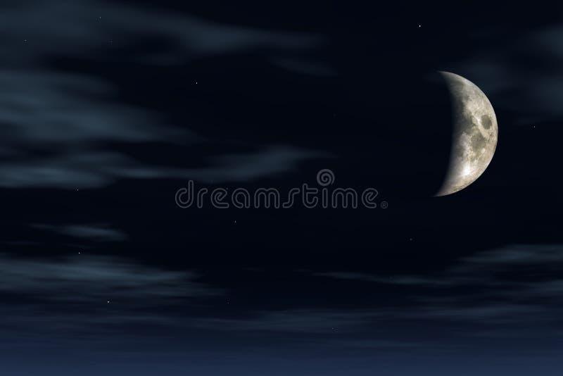 månsken vektor illustrationer