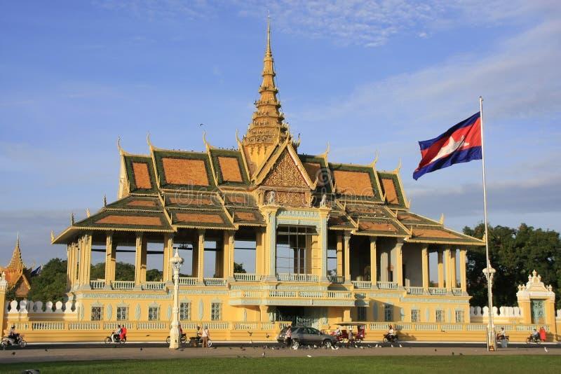 Månsken Pavailion, kunglig slott, Phnom Penh, Cambodja arkivfoton